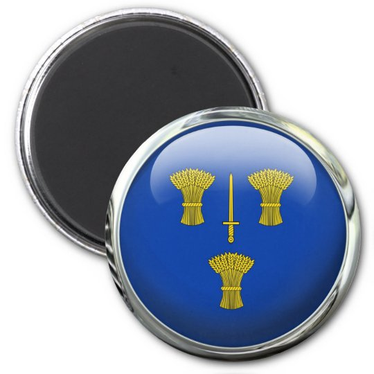 Cheshire County Flag Glass Ball Magnet