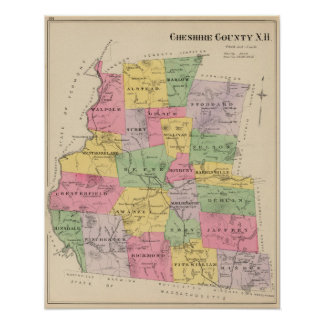 Cheshire County, NH Poster