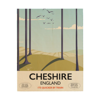 Cheshire, England travel poster