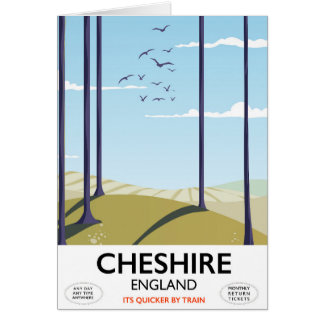 Cheshire, England travel poster Card