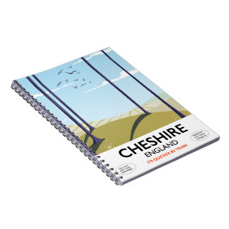 Cheshire, England travel poster Notebook