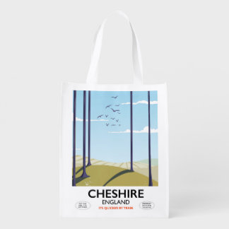 Cheshire, England travel poster Reusable Grocery Bag
