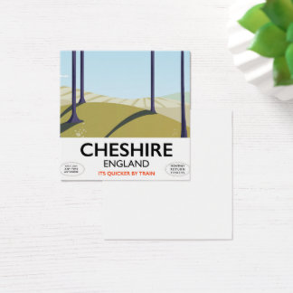 Cheshire, England travel poster Square Business Card