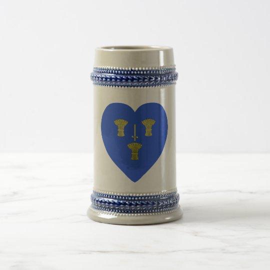 Cheshire Flag Heart Beer Stein