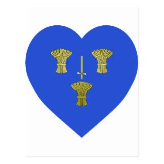 Cheshire Flag Heart Postcard