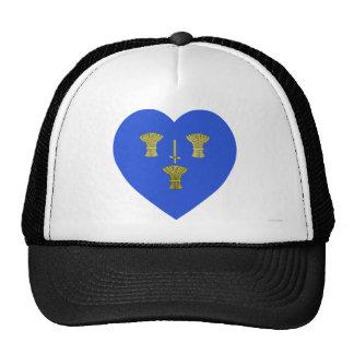 Cheshire Flag Heart Trucker Hat