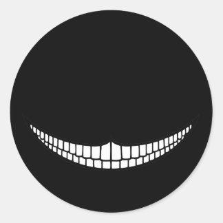 Cheshire Grin Classic Round Sticker