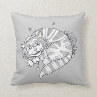 Cheshire Grins Throw Pillow