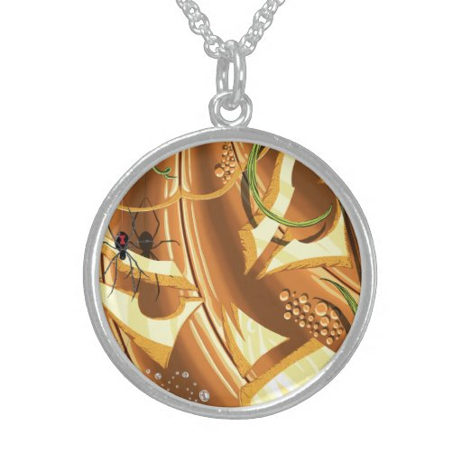 Cheshire Pumpkin Sterling Silver Necklace