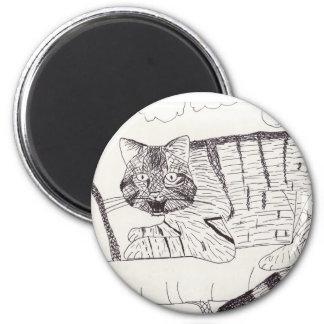 Cheshire Scottish Wildcat Magnet