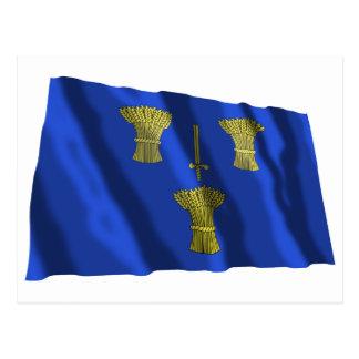 Cheshire Waving Flag Postcard
