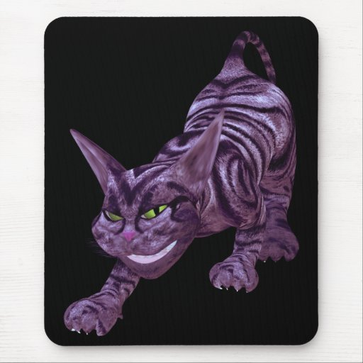 chesire cat mouse pad