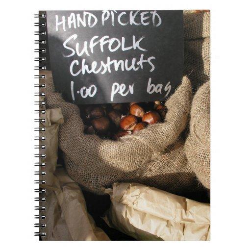 Chesnuts Spiral Notebooks