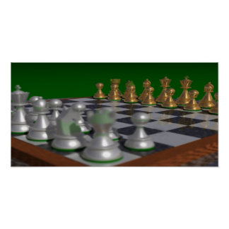 chess20001000 to 20x10 = 22x11 poster