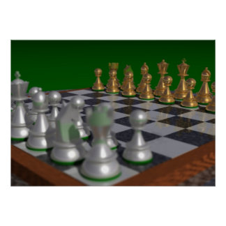 chess28002000 to 28x20 = 32x23 poster