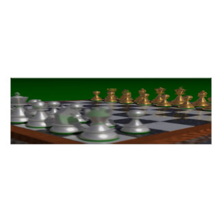 chess36001175 to 36x11.75 = 34x11 poster