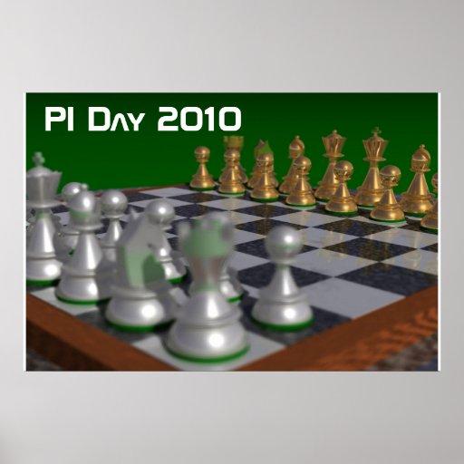 chess40002700, día 2010 del pi póster
