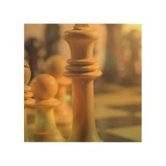 chess-20 wood wall art
