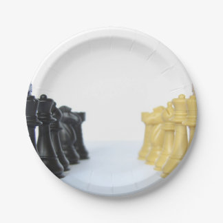 chess-24 7 inch paper plate