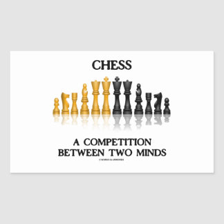 Chess A Competition Between Two Minds (Chess Set) Rectangular Sticker