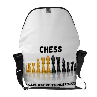 Chess A Game Where Thinkers Rule (Chess Set) Messenger Bag
