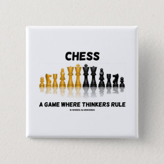 Chess A Game Where Thinkers Rule (Chess Set) Pinback Button