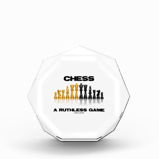 Chess A Ruthless Game (Reflective Chess Set) Acrylic Award
