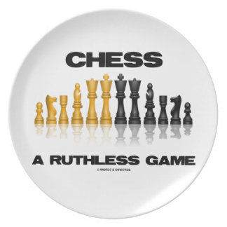 Chess A Ruthless Game (Reflective Chess Set) Melamine Plate