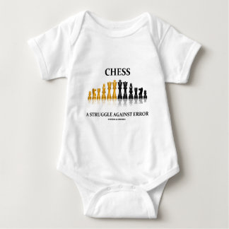 Chess A Struggle Against Error (Reflective Chess) Baby Bodysuit