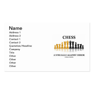 Chess A Struggle Against Error (Reflective Chess) Business Cards