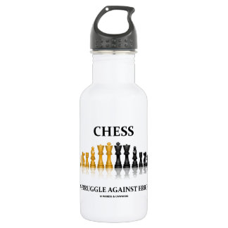 Chess A Struggle Against Error Reflective Chess Water Bottle