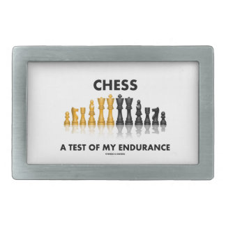 Chess A Test Of My Endurance Reflective Chess Set Belt Buckle
