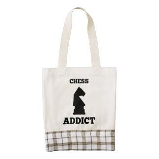 Chess Addict Zazzle HEART Tote Bag