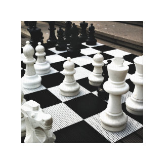 Chess Amstergram Gallery Wrapped Canvas