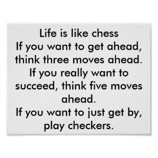 chess and checkers poster