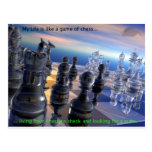 Chess and Life Post Card