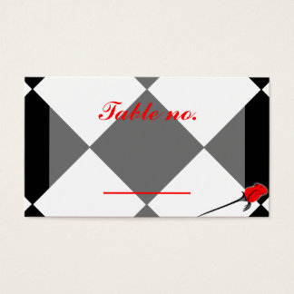 Chess and Roses Gothic Wedding Business Card