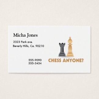Chess Anyone Chess Pieces Business Card