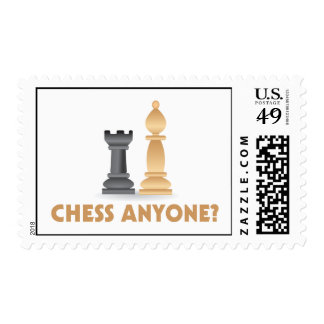 Chess Anyone Chess Pieces Postage