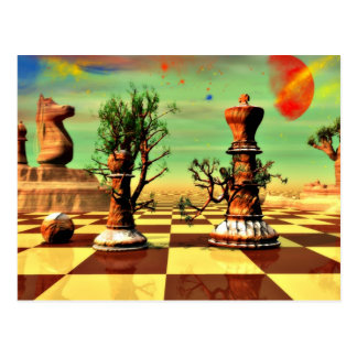 Chess art, chess rules, chess openings, postcards