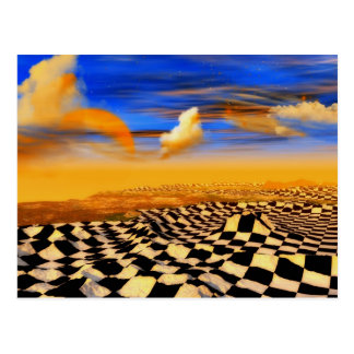 Chess art, chess rules, chess openings, post card