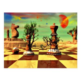 Chess Art Postcard