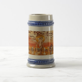 Chess art surreal beer stein