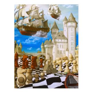 Chess art surreal postcards