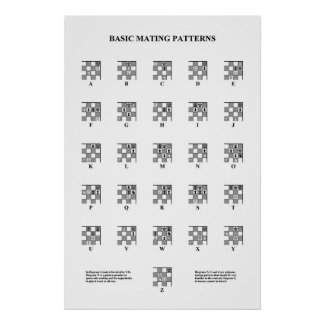 Chess - Basic Mating Patterns print
