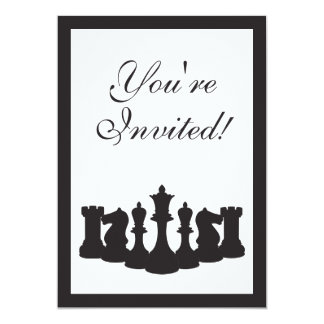 Chess Birthday Party Invitation