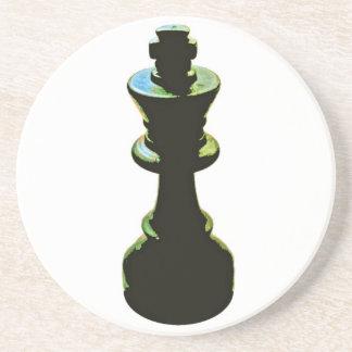 Chess, Black King Drink Coaster