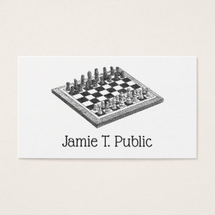 Chess bishop business cards templates zazzle chess board and chess pieces vintage art business card reheart Gallery