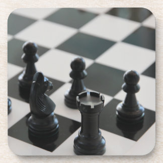 Chess Board and Pieces Coasters