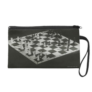 Chess Board Wristlet Clutches